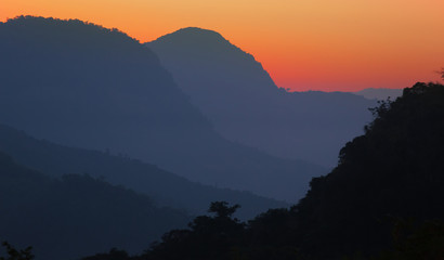 Mountain view in Laos, from Nong Khiaw village viewpoint