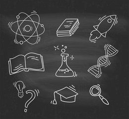 Set of Hand Drawn Science icons