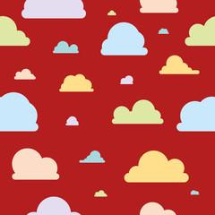 Wolken - Muster - bunt