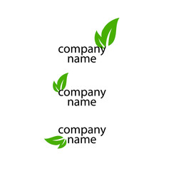 company name vector eco logo