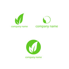 company name vector eco logo
