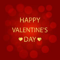 Red background happy valentine's day. Illustration.