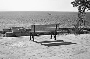 black and white photography Piraiki Piraeus Greece