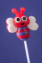 Valentine candy lollipop - bumble bee