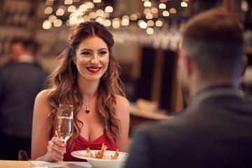 Romantic dinner for Valentine's day Fototapete