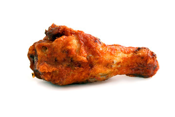 Buffalo chicken wing over white background