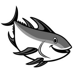 Tuna Diving Illustration