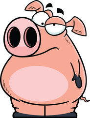 Annoyed Cartoon Pig