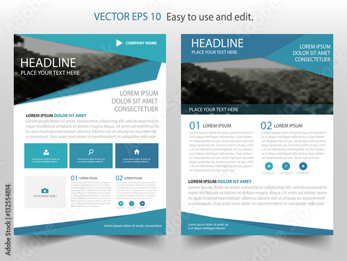 Blue Vector business proposal Leaflet Brochure Flyer