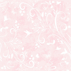romantic background with with floral flourishes for your design
