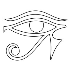 Eye of Horus icon, outline style