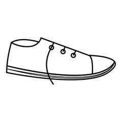 Sneakers icon, outline style