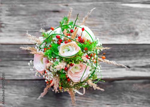 Vintage Strauss Brautstrauss Hochzeit Heirat Boho Stock Photo And