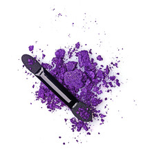 Crushed violet eyeshadow