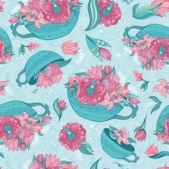 Vector Spring Turquoise Pattern