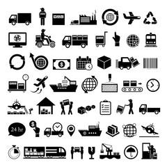 logistics export icon set