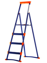 Metal stepladder on a white background. isolate