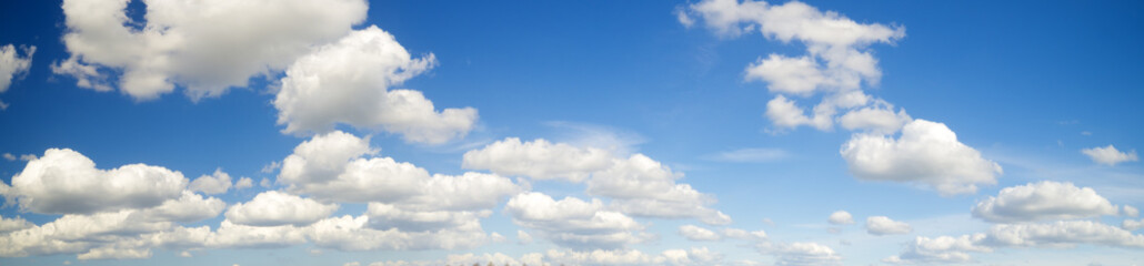 Canvas Prints Heaven puffy white clouds in the blue sky,panorama