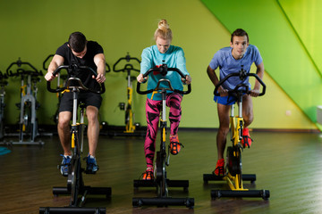Young athletes in fitness center