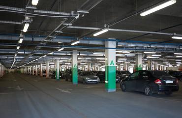 Subterranean parking lot