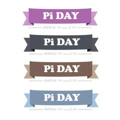 Pi day Tagline Logo Vector