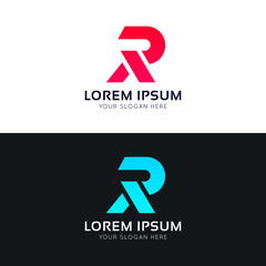 R symbol letter icon sign company logo vector design