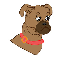 Vector illustration of a dog head