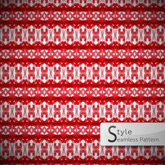 abstract bow ribbon red lattice vintage geometric seamless patte