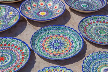 Typical ceramics of Bukhara, Uzbekistan