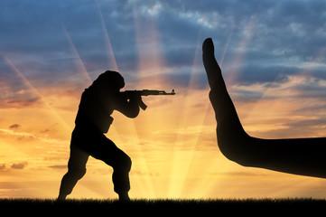 Fight against terrorism concept