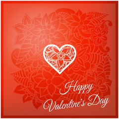 Happy valentines day and weeding design elements. Vector illustration. Hearts. Doodles and curls.