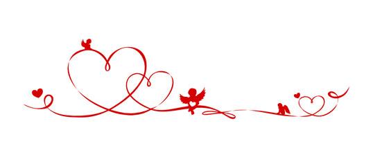 Schleifenband Engel und Herzen
