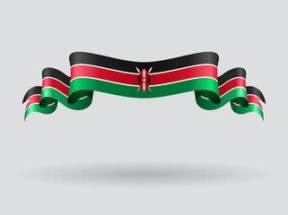 Kenyan wavy flag. Vector illustration. Wall mural
