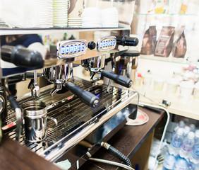 professional coffee machine in bar or restaurant