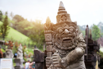 temples of Bali, beautiful stone sculpture, Indonesia