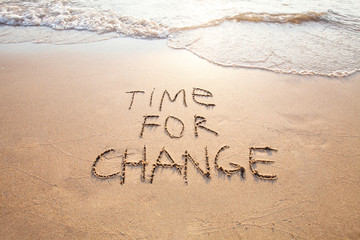 time for change, concept of new, life changing and improvement Wall mural