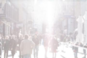 blurred city street in Vienna