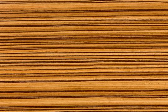 Natural African Zingana (zebrano) wood texture.
