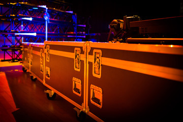 Flightcases with Truss and Light