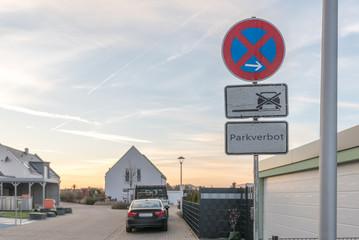 Parkverbot Straßenschild