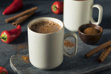 Homemade Holiday Spicy Mexican Hot Chocolate