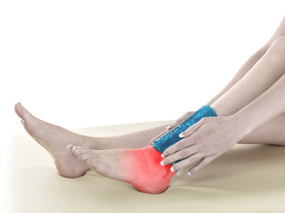 Human Ankle pain