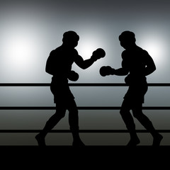sparring in the ring