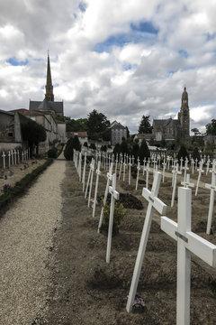 The Basilica of St. Louis de Montfort  cemetery at Saint-Laurent