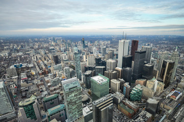 Toronto aerial view