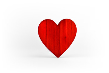 Red heart symbol of love