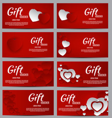 Gift Voucher Template For Your Business. Valentine s Day Heart