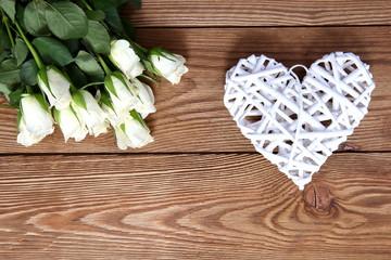 Serce i kwiaty dla zakochanych