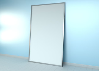 White blank canvas 3D rendering