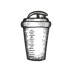 drawing a shaker bottle. vector illustration